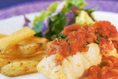 Fish in spicy tomato